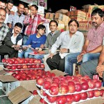 apple auction in market-