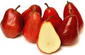 red bartlet pear-