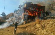 बंजार में मकान 15 मवेशियों सहित आग की भेंट