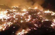 चिड़गांव में भीषण अग्निकांड, सौ से अधिक घर राख