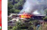 बंजार में मकान जलकर राख- देखें वीडियो
