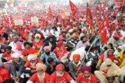 दिल्ली में लाखों मजदूरों का हल्ला बोल