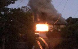 मकान में आग से पांच लोग जिंदा जले